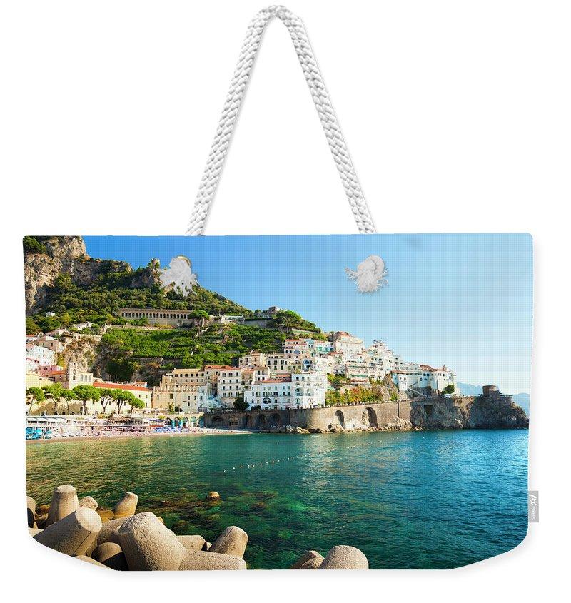 Tyrrhenian Sea Weekender Tote Bag featuring the photograph Amalfi Coast, Italy by Brzozowska
