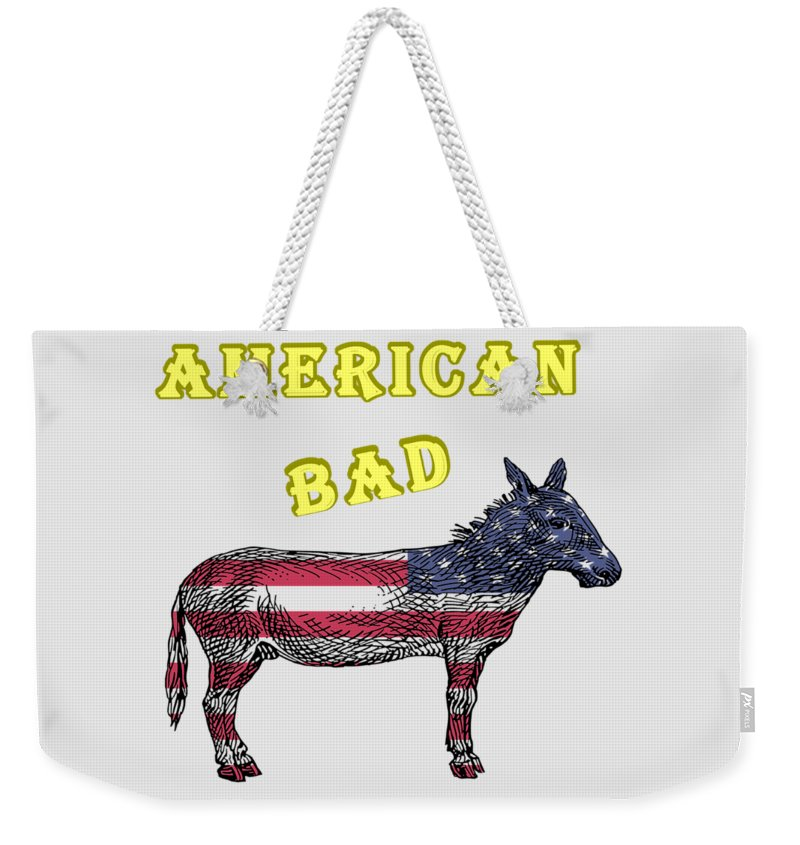 American Weekender Tote Bag featuring the digital art American Bad Ass by John Da Graca