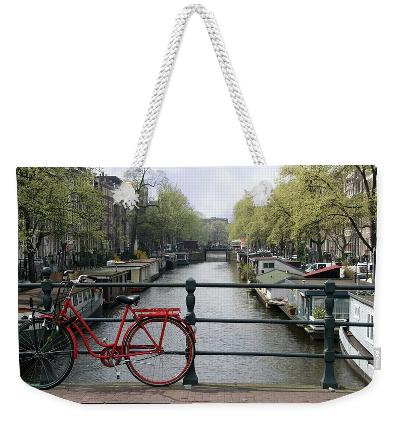 Row House Weekender Tote Bag featuring the photograph Amsterdam City Scene by W-ings