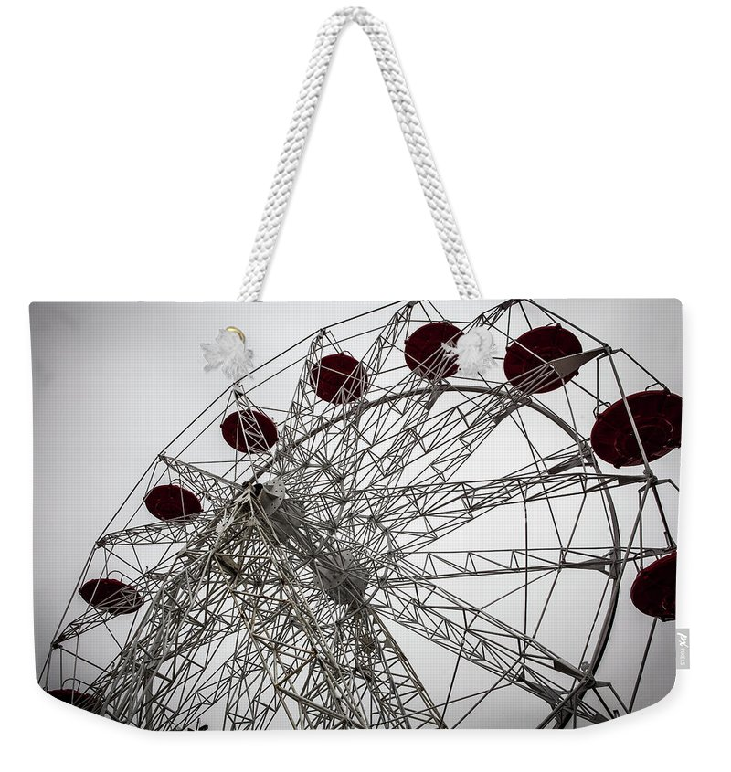 Empty Weekender Tote Bag featuring the photograph Amusement Park by Aluma Images