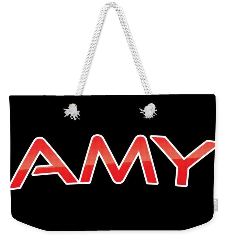 Amy Weekender Tote Bag featuring the digital art Amy by TintoDesigns