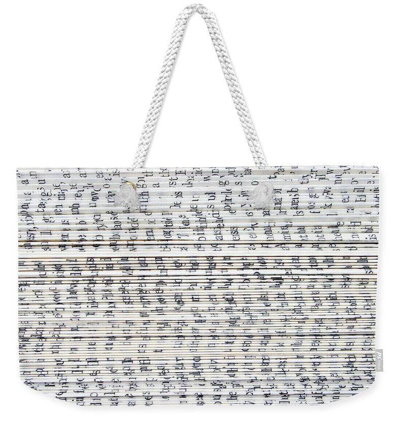 Information Medium Weekender Tote Bag featuring the photograph Ancient Paper Book by Valerie Loiseleux
