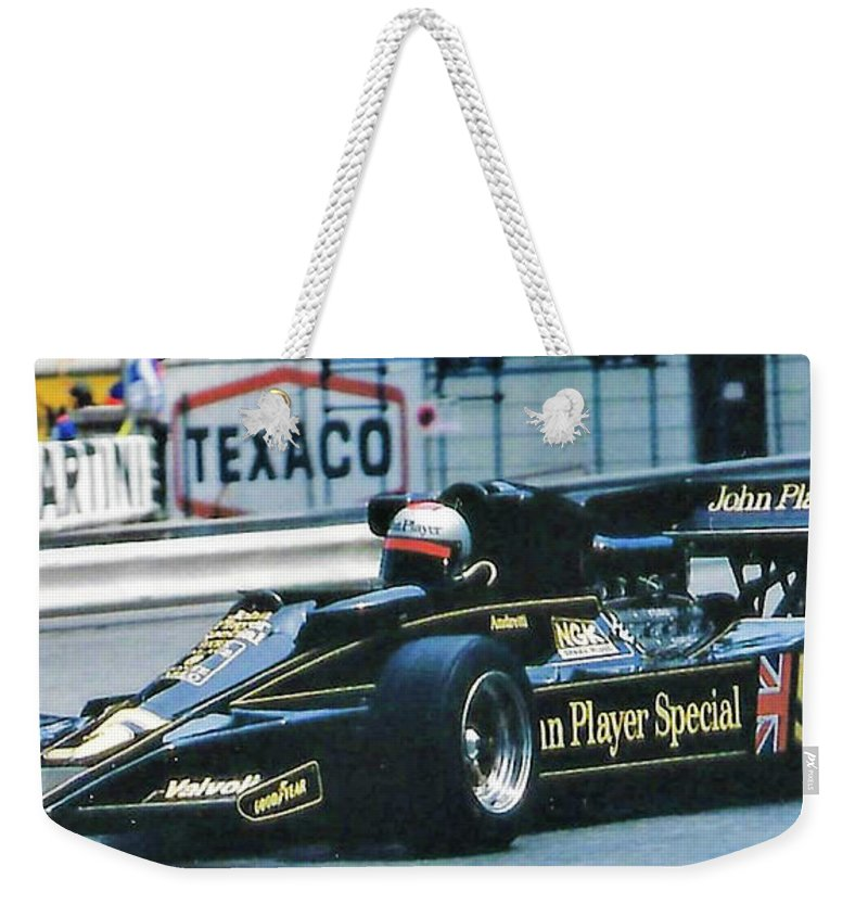 Motorsports Weekender Tote Bag featuring the photograph Andretti Monaco 78 by Michael Nowotny