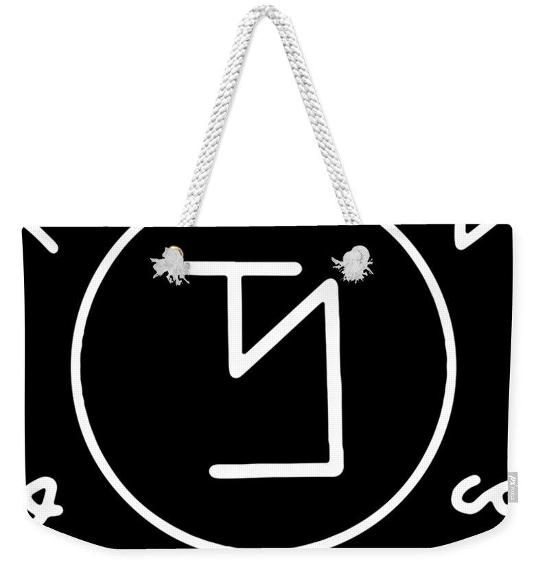 Papa Weekender Tote Bag featuring the digital art Angel Banishing Sigil Ladies Supernatural Top Winchester Castiel Dean Papa by Mason Skene