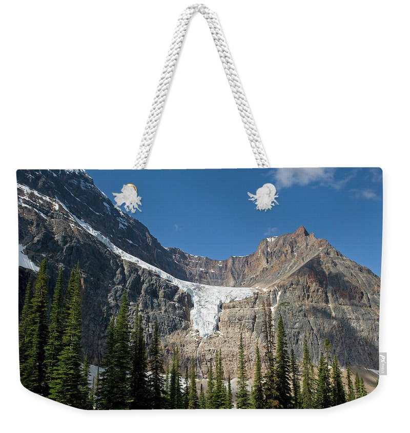 Scenics Weekender Tote Bag featuring the photograph Angel Glacier by Jim Julien / Design Pics