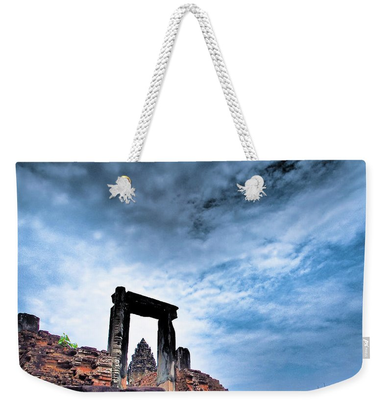 Cambodian Culture Weekender Tote Bag featuring the photograph Angkor by Cjfan