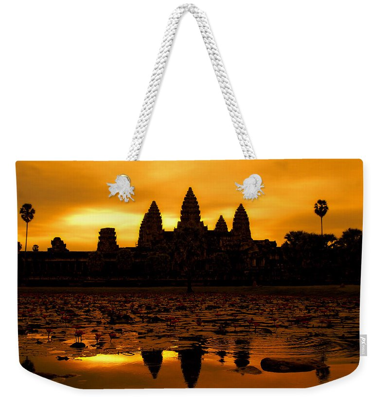 Cambodian Culture Weekender Tote Bag featuring the photograph Angkor Wat At Sunrise by David Lazar