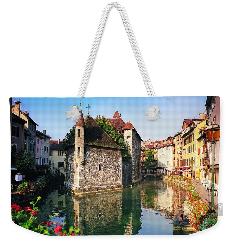 Town Weekender Tote Bag featuring the photograph Annecy, Savoie, France by Robertharding