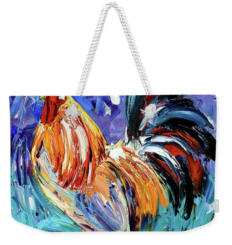 Rooster Weekender Tote Bag featuring the painting Another Day by Debra Hurd