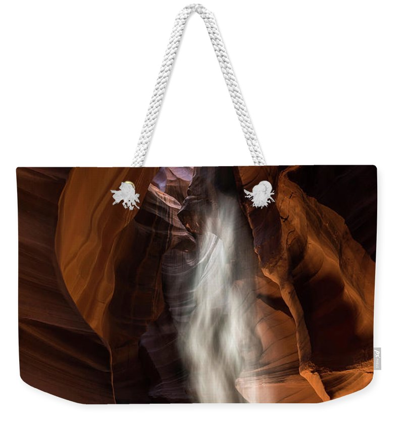 Antelope Canyon Weekender Tote Bag featuring the photograph Antelope Canyon by Larry Marshall
