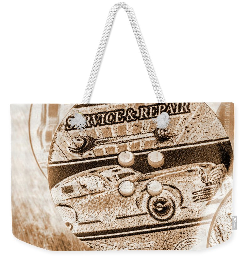Sepia Weekender Tote Bag featuring the photograph Antique Service Industry by Jorgo Photography - Wall Art Gallery