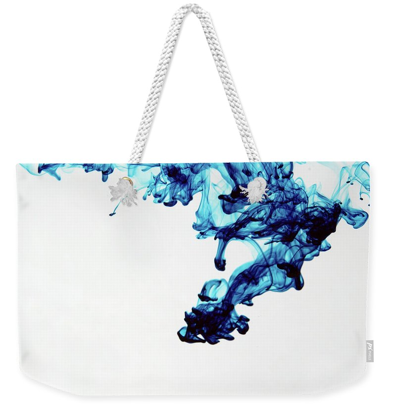 Mixing Weekender Tote Bag featuring the photograph Aqua Art 1 Of 5 by Bpalmer