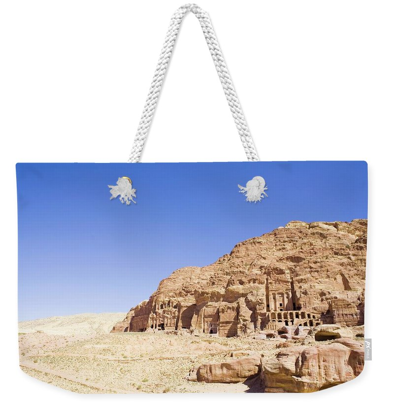 Scenics Weekender Tote Bag featuring the photograph Archaeological Remains Of Petra by Gallo Images