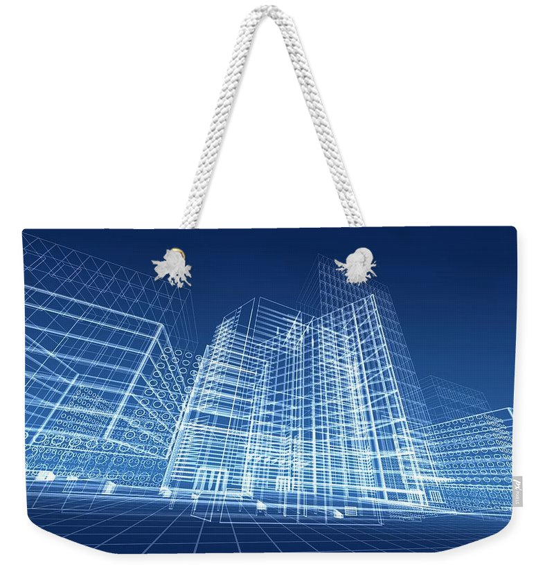 Plan Weekender Tote Bag featuring the photograph Architectural Blueprint Designs For by Dinn