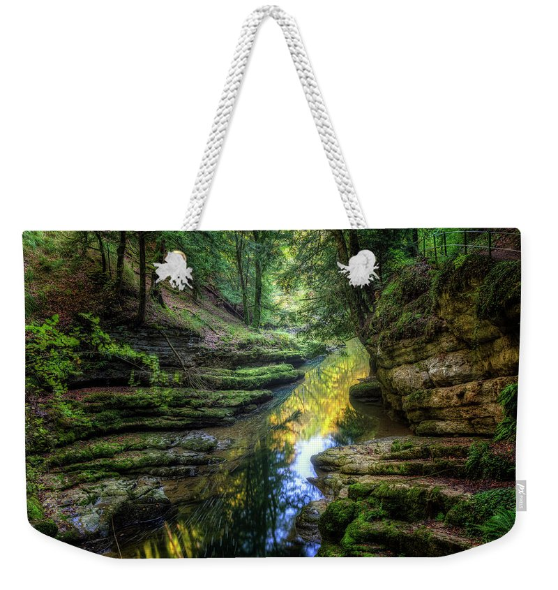 Gorges De L'areuse Weekender Tote Bag featuring the photograph Areuse Gorge - Switzerland by Joana Kruse