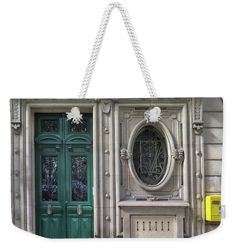 Art Deco Weekender Tote Bag featuring the photograph Art Deco Doorway by Dave Mills