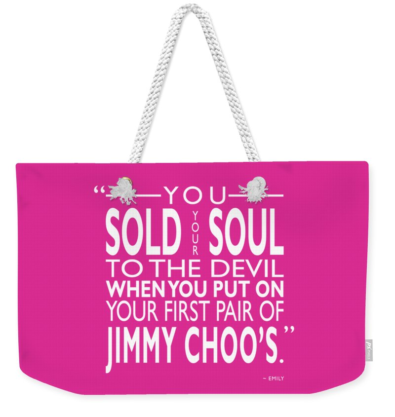 ea49c953044b The Devil Wears Prada Weekender Tote Bag featuring the photograph Sold Your  Soul To The Devil