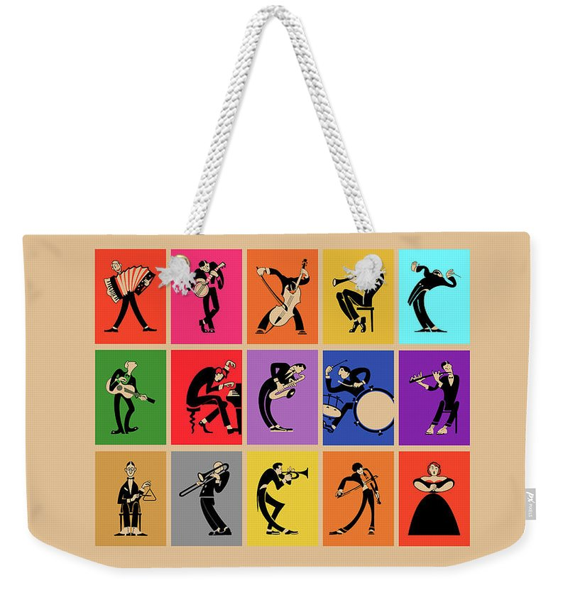 Musicians Weekender Tote Bag featuring the photograph The Musicians by Mark Rogan