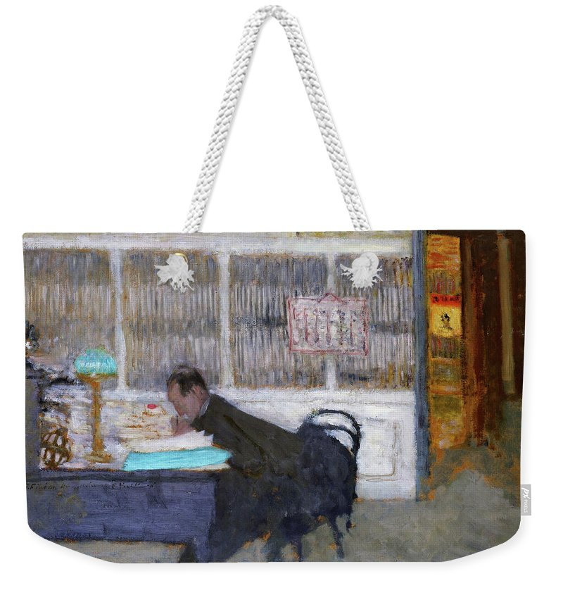 At The Revue Blanche Weekender Tote Bag featuring the painting At The Revue Blanche - Digital Remastered Edition by Edouard Vuillard