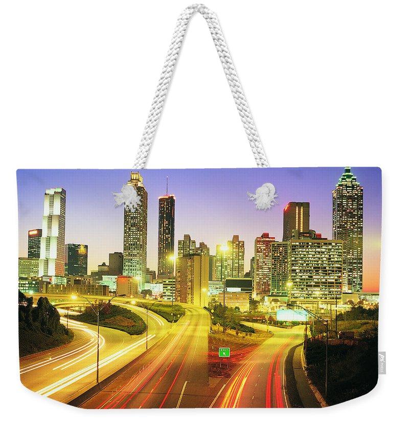 Atlanta Weekender Tote Bag featuring the photograph Atlanta Skyline, Georgia, Usa by Travel Ink