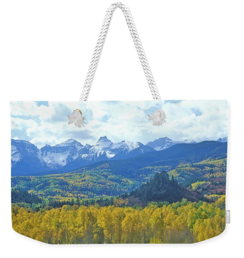 Scenics Weekender Tote Bag featuring the photograph Autumn Colors In The Sneffels Mountain by Visionsofamerica/joe Sohm