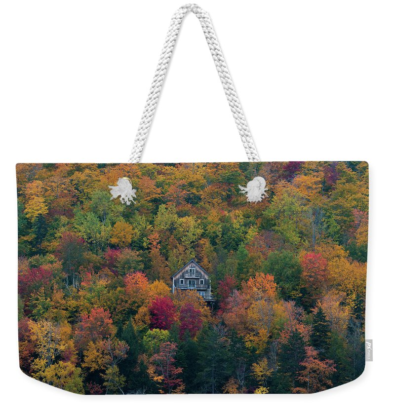 Maine Weekender Tote Bag featuring the photograph Autumn In Maine by Jesse MacDonald