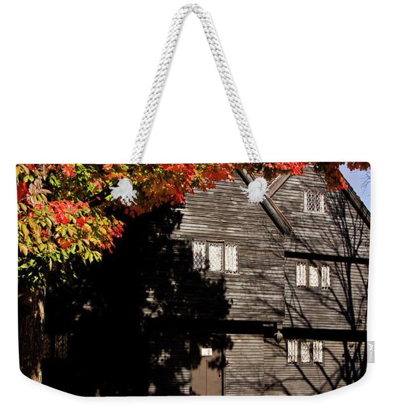 Salem Weekender Tote Bag featuring the photograph Autumn In Salem by Jeff Folger