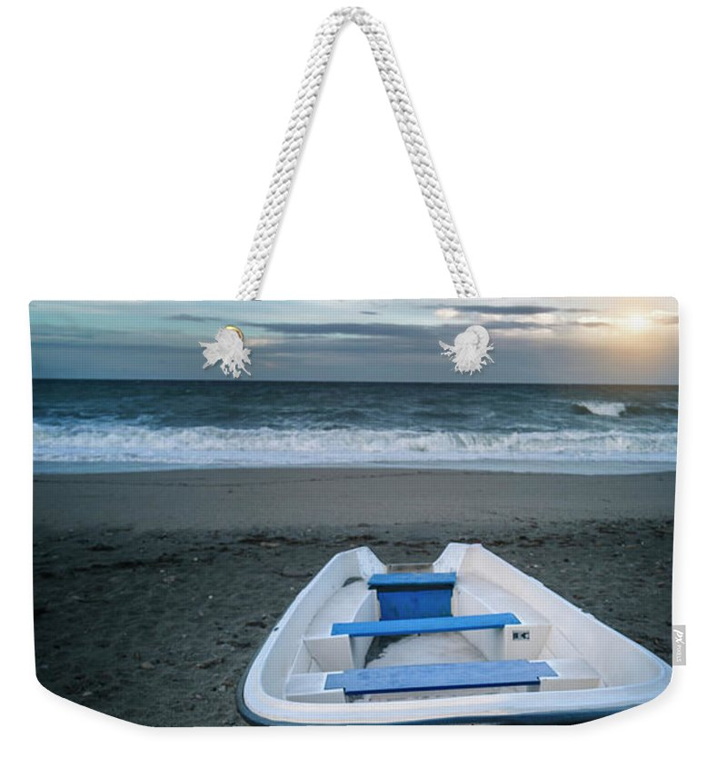 Kremsdorf Weekender Tote Bag featuring the photograph Away From The Roll Of The Sea by Evelina Kremsdorf