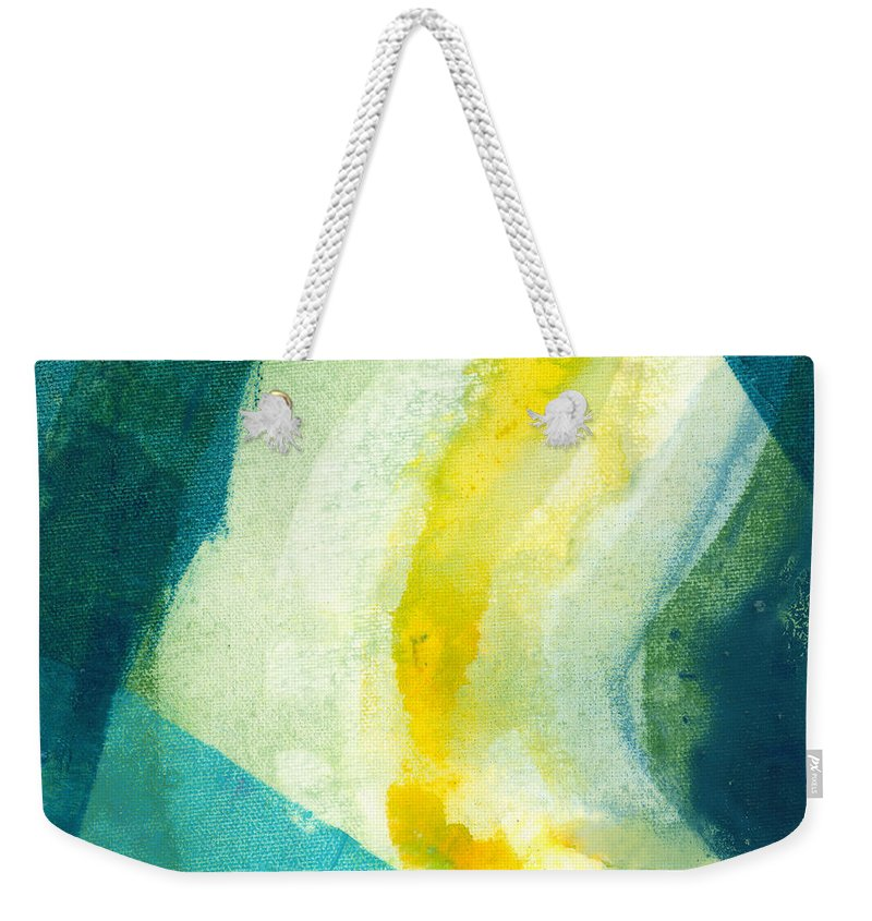 Abstract Weekender Tote Bag featuring the painting Back by Claire Desjardins