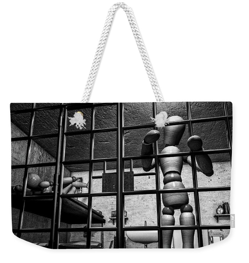 Bail Weekender Tote Bag featuring the photograph Bail Denied by Bob Orsillo