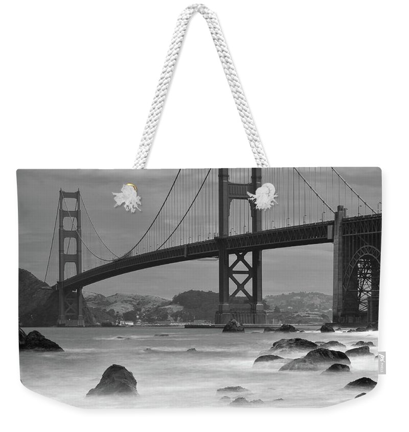 Tranquility Weekender Tote Bag featuring the photograph Baker Beach Impressions by Sebastian Schlueter (sibbiblue)