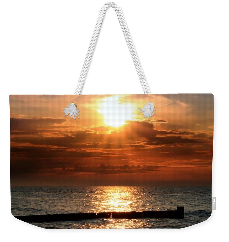 Tranquility Weekender Tote Bag featuring the photograph Baltic Sunset by © Jan Zwilling