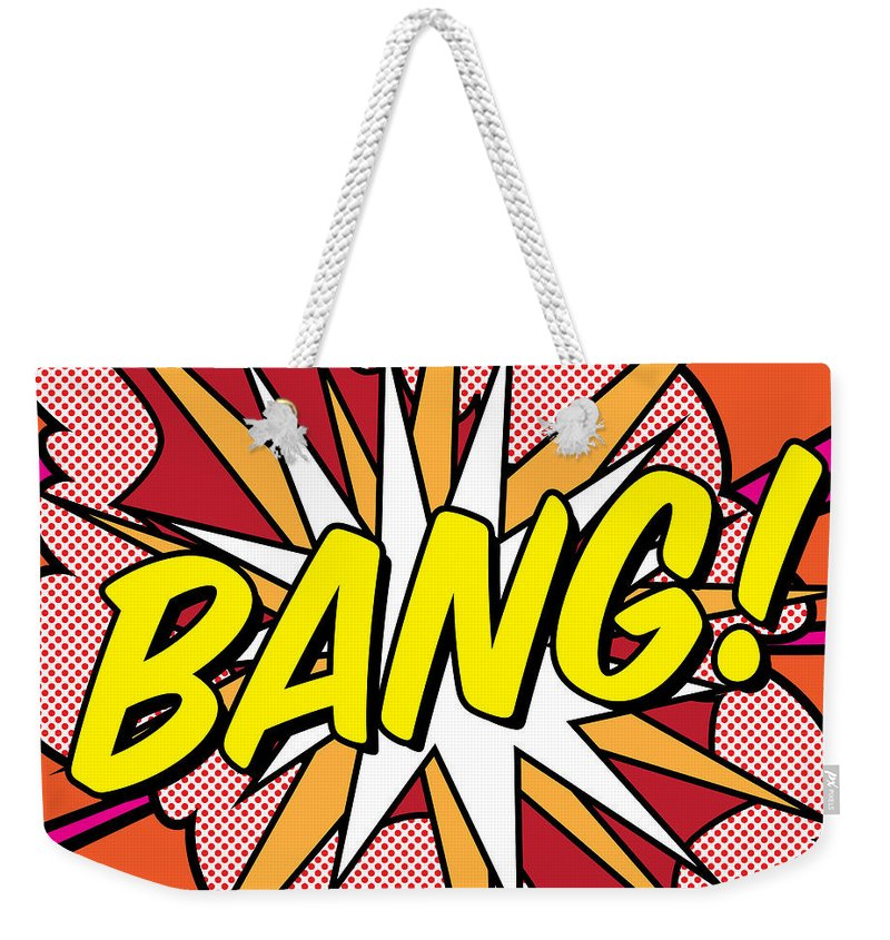 Digital Weekender Tote Bag featuring the painting Bang by Gary Grayson