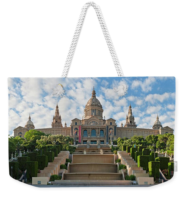 Catalonia Weekender Tote Bag featuring the photograph Barcelona Museu Nacional Dart De by Fotovoyager