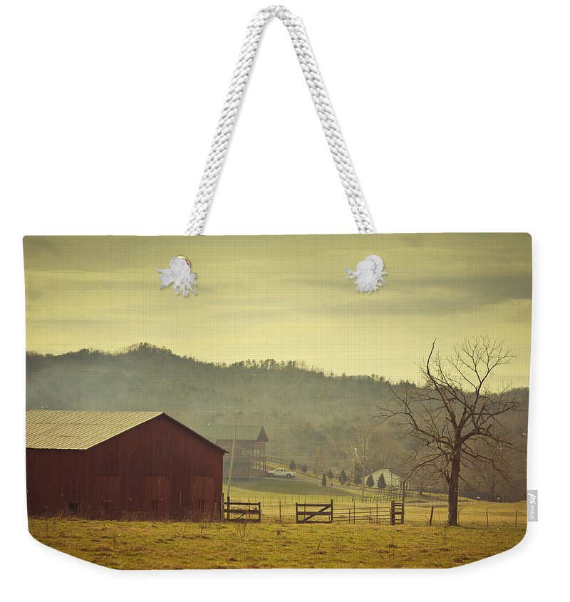 Non-urban Scene Weekender Tote Bag featuring the photograph Barnyard In Wears Valley by Thepalmer