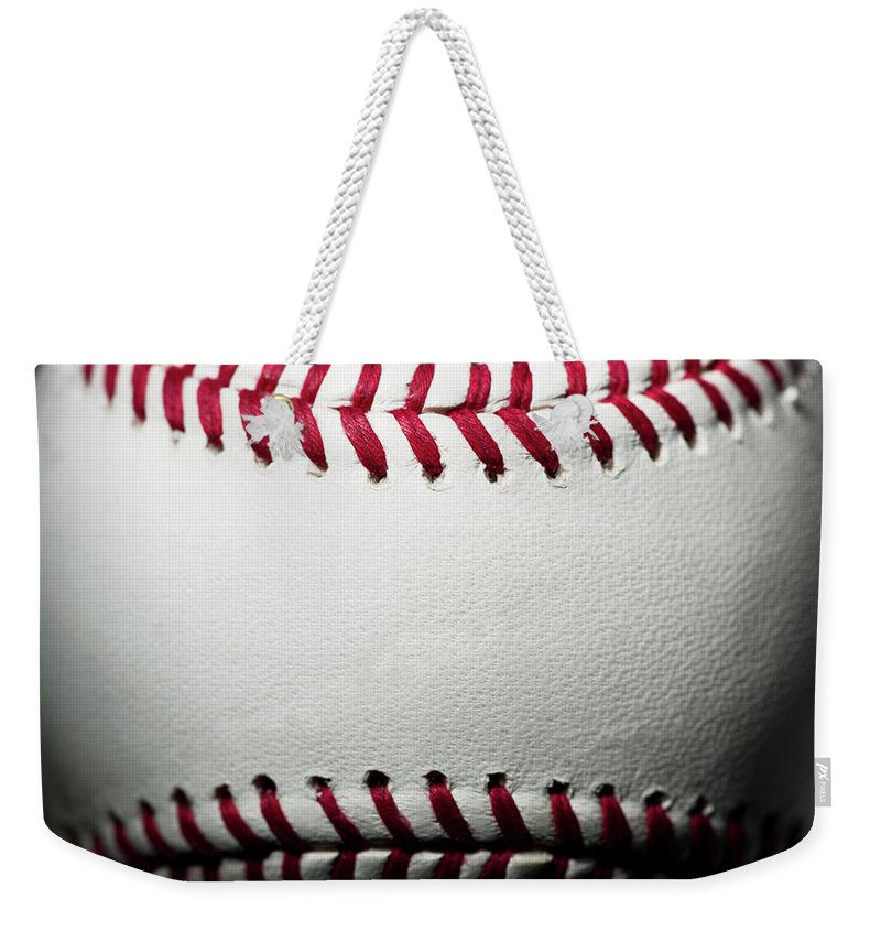 Ball Weekender Tote Bag featuring the photograph Baseball by Pgiam