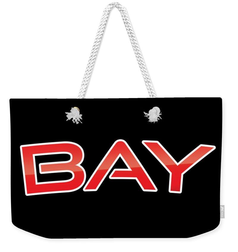 Bay Weekender Tote Bag featuring the digital art Bay by TintoDesigns