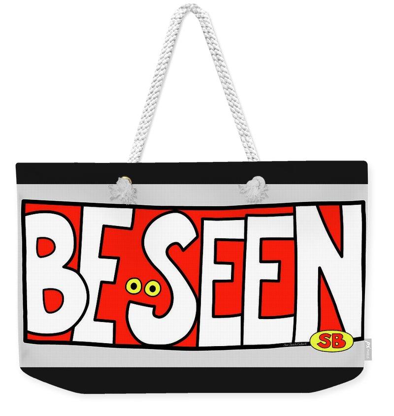 Eyes Weekender Tote Bag featuring the digital art Be Seen by Susan Bird Artwork