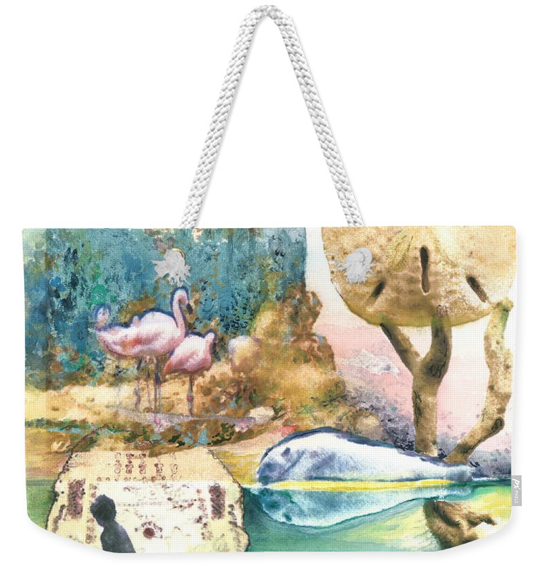 Yellow Weekender Tote Bag featuring the digital art Beach Envy by Valerie Meotti