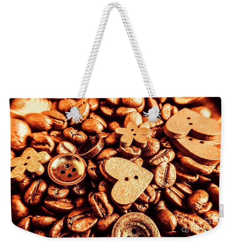 Drinks Weekender Tote Bag featuring the photograph Beans And Buttons by Jorgo Photography - Wall Art Gallery