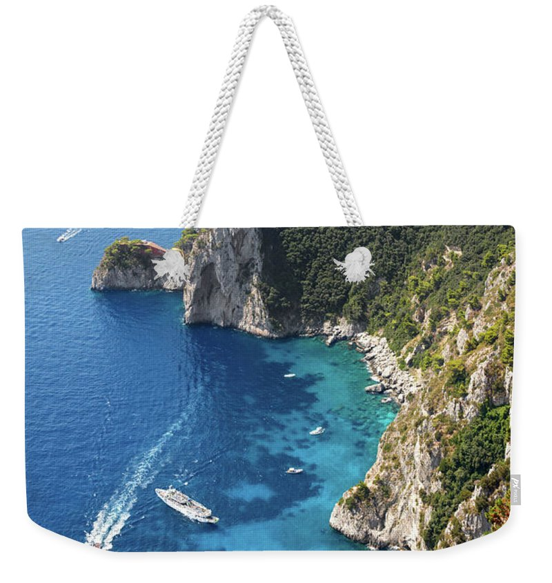 Scenics Weekender Tote Bag featuring the photograph Beautiful Capris Sea by Pierpaolo Paldino