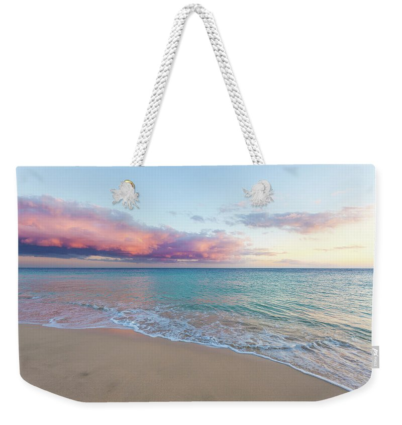 Water's Edge Weekender Tote Bag featuring the photograph Beautiful Seascape, Beach And Ocean At by Zodebala