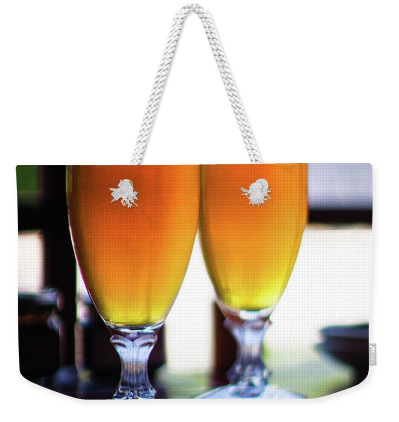 Alcohol Weekender Tote Bag featuring the photograph Beer Glass by Sakura chihaya+