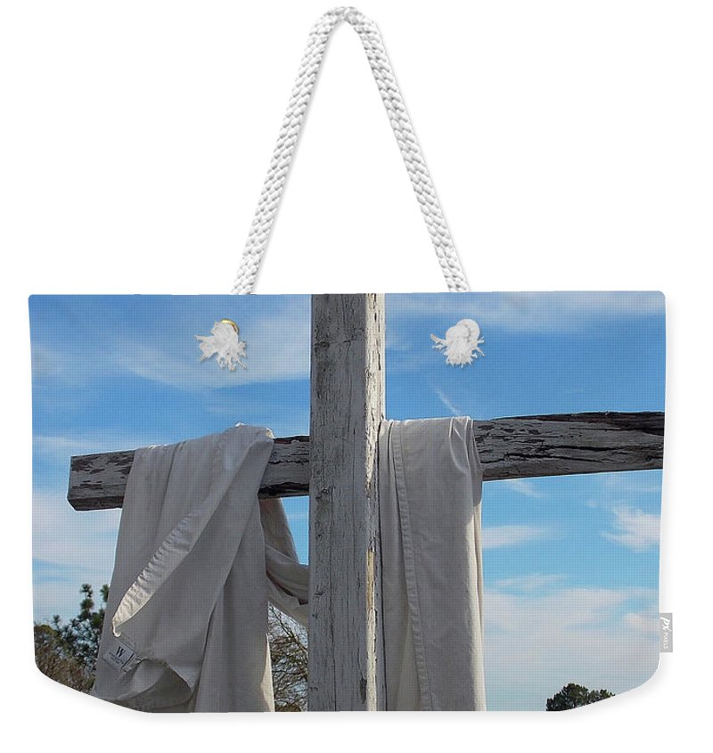 Photography Weekender Tote Bag featuring the photograph Behold, He Is Coming With The Clouds, by Matthew Seufer