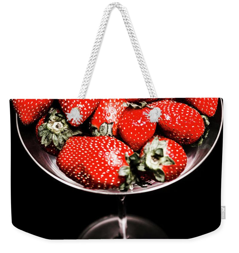 Food Weekender Tote Bag featuring the photograph Berry Tonic by Jorgo Photography - Wall Art Gallery