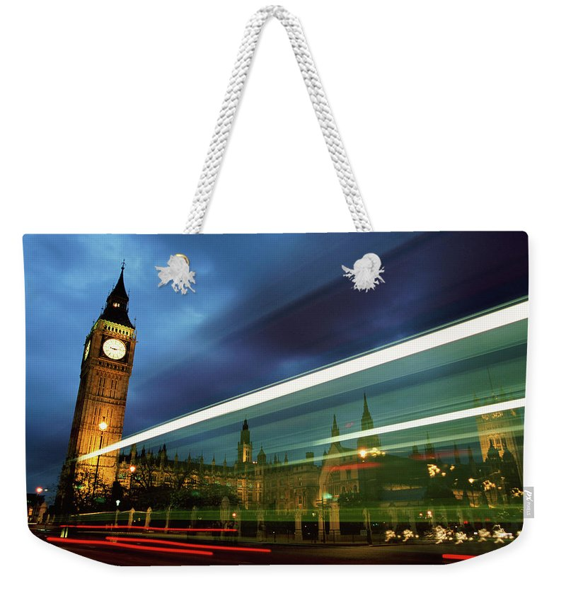 Gothic Style Weekender Tote Bag featuring the photograph Big Ben And The Houses Of Parliament by Allan Baxter