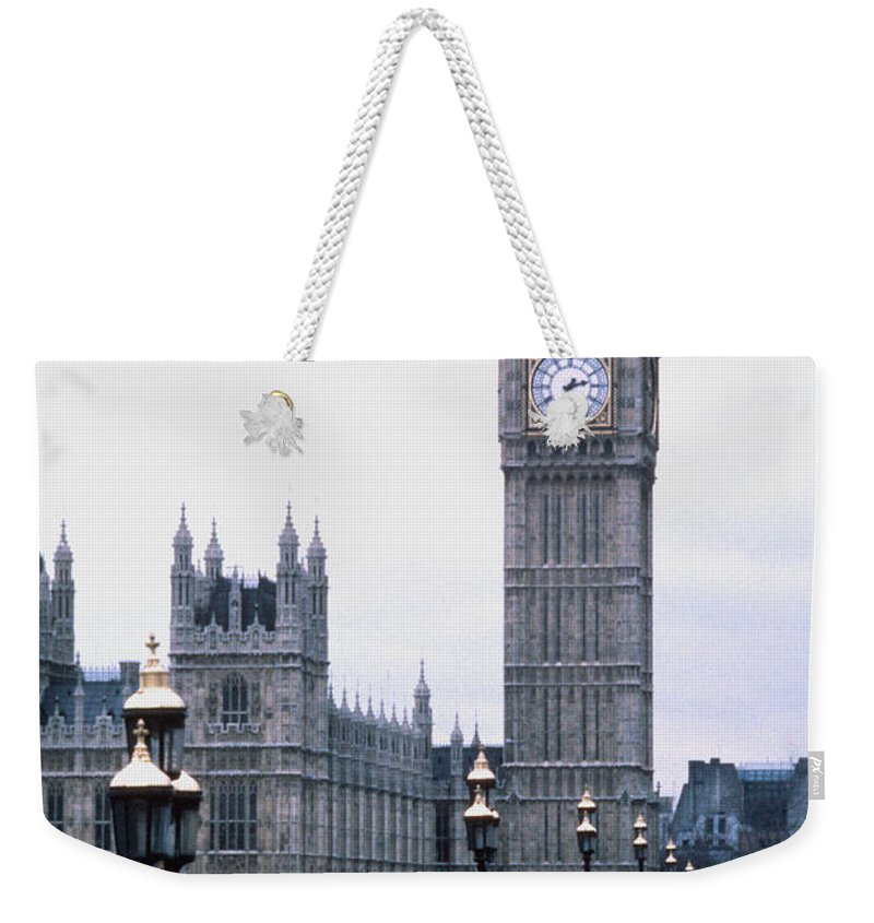 Clock Tower Weekender Tote Bag featuring the photograph Big Ben In London by Dick Luria