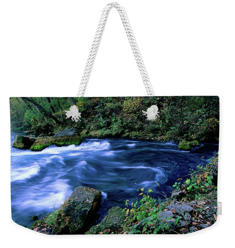 Scenics Weekender Tote Bag featuring the photograph Big Spring, Ozarks National Scenic by John Elk Iii