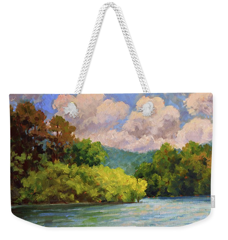 Impressionism Weekender Tote Bag featuring the painting Birch Point by Keith Burgess