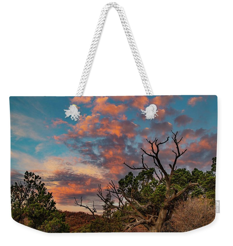 Black Canyon Of The Gunnison Weekender Tote Bag featuring the photograph Black Canyon Sunrise by Jim Allsopp